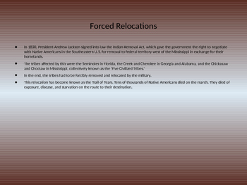 Historical Facts on Native Americans Powerpoint