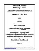 Historical Fiction American Revolutionary War Civil War WW