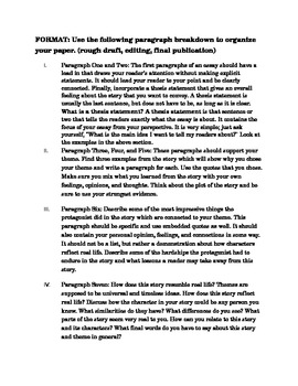 Historical Fiction Analysis Essay grades 9-12
