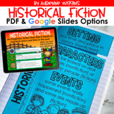 Historical Fiction (PDF & Google Classroom) Distance Learning