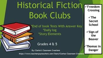 Historical Fiction Book Club Unit