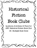 Historical Fiction Book Club for ANY Historical Fiction Book
