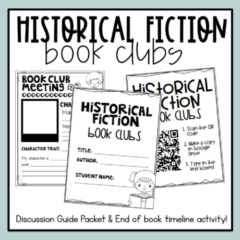 Historical Fiction Book Clubs Digital Paper Options Tpt