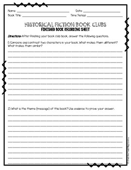 Historical Fiction Book Clubs