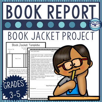 Historical Fiction Book Report - Book Jacket Project for grades 3-6