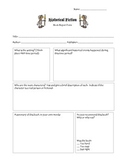 Historical Fiction Book Report Form