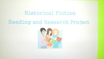 Historical Fiction Book Report Project