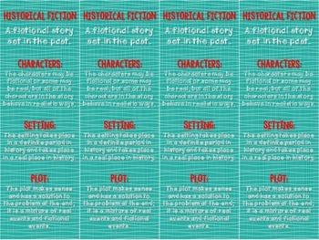 Historical Fiction Bookmark