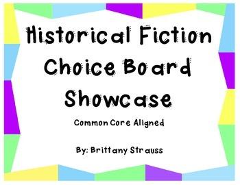 Historical Fiction Choice Board Showcase - Common Core Aligned