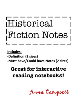 Historical Fiction Genre Notes