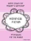 Historical Fiction Genre Study - Printables For the Middle