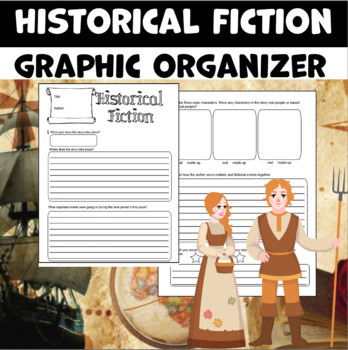 graphic relating to Novel Planner Online Free called Historic Fiction Picture Organizer Worksheets TpT
