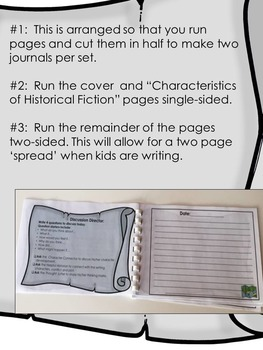 Historical Fiction Literature Circles Journal ~ Middle School