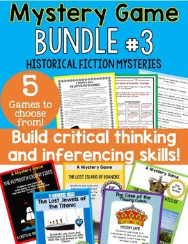 Historical Fiction Mystery Game BUNDLE - Great Ice Breaker