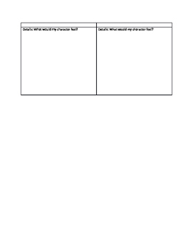 Historical Fiction Narrative Details Graphic Organizer