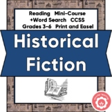 Historical Fiction Book Report CCSS Grades 3-6 Print or Di