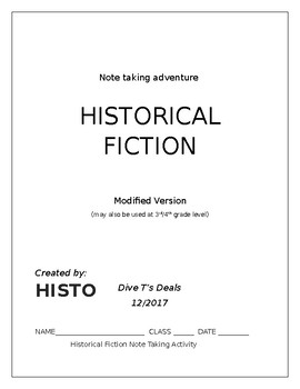 Historical Fiction Note Taking Exercise Modified Version