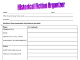 Historical Fiction Organizer