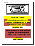 Historical Fiction Book Report: Reading Response Pages (novel/genre study)