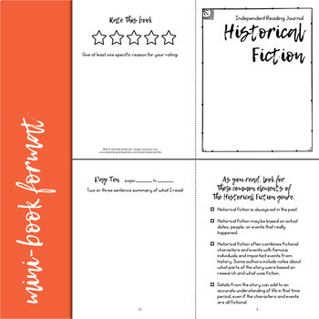 Historical Fiction Reading Response Journal