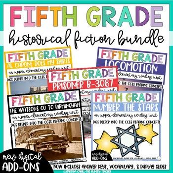 Fifth Grade Reading Unit Novel Study - Historical Fiction ...