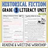 Historical Fiction Reading & Writing Unit Grade 3: 2nd Edition!