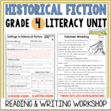 Historical Fiction Reading & Writing Unit Grade 4: 40 Detailed Lessons with CCSS