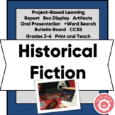 Historical Fiction Project-Based Study CCSS 3-6