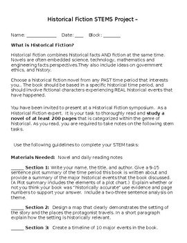 Historical Fiction STEMS project