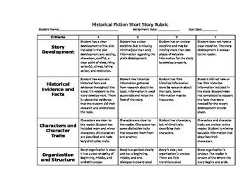 Historical Fiction Short Story Plot Diagram and Writing