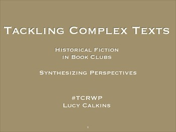 Historical Fiction Timeline || #TCRWP || Lucy Calkins