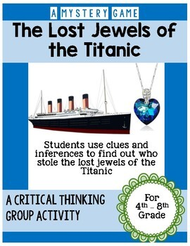 Historical Fiction Titanic Mystery Game - Great Ice Breaker Activity!