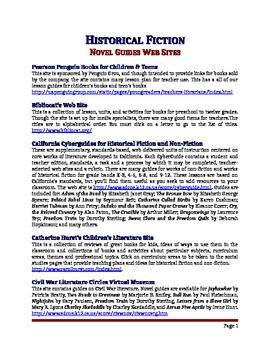 Historical Fiction Websites