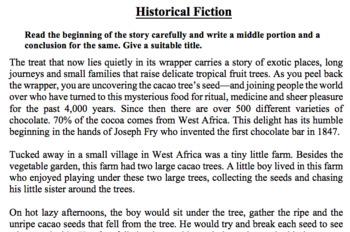 Historical Fiction Worksheet