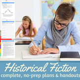 Historical Fiction Writing Unit for middle school (editabl
