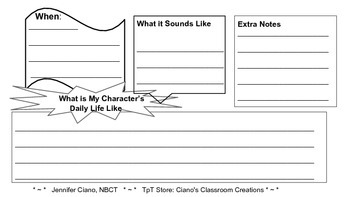 Historical Fiction Writing: Setting Graphic Organizer
