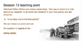 Historical Fiction Writing Teaching Points