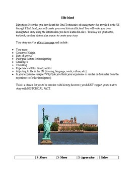 Historical Fiction with Historical Facts (Ellis Island)
