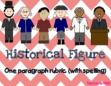 Historical Figure (Biography) one paragraph rubric with spelling