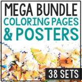 HISTORY & SCIENCE COLORING PAGES Mega Bundle | Worksheets | Crafts