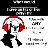 Historical Figure Playlist: A Fun Evidence-Based Writing to use with ANY Unit