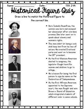 Historical Figure Quiz #1