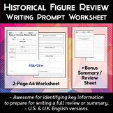 Historical Figure Review Worksheet