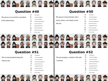Historical Figure Scoot Task Cards