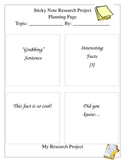 Historical Figure Sticky Note Research Paper Packet