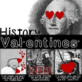 History Valentines: History Valentine's Day Activity, Posters, and Student Card