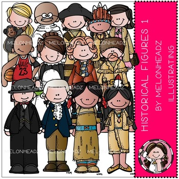 Melonheadz: Historical Figures clip art Part 1 - COMBO PACK