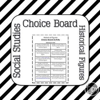 Historical Figures Choice Board