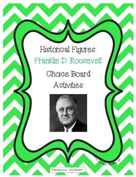 Historical Figures Choice Board - Franklin D. Roosevelt