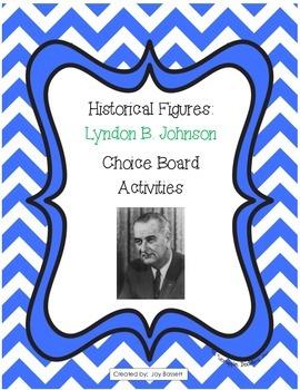 Historical Figures Choice Board - Lyndon B. Johnson